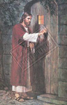 Jesus Christ knocks at the door